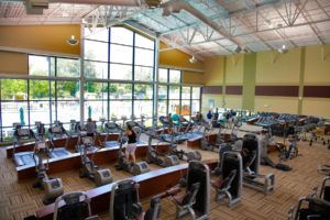 Empty Fitness Center due to Coronavirus