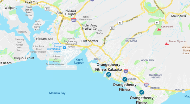 OTF Hawaii map